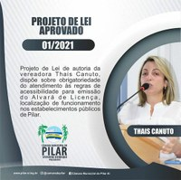Vereadora Thais Canuto conquista aprovação de PL com foco na acessibilidade